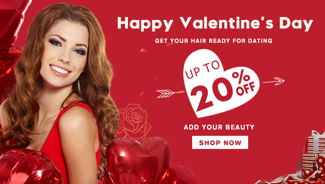 2018 Happy Valentine's Day Hair Extensions Sale Canada