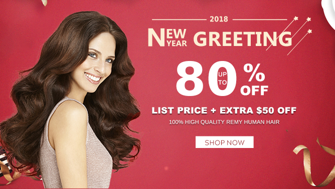 2017 Hair Extensions New Year Greeting Sale Sale Canada
