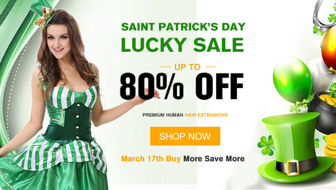 2018 Happy Saint Patrick's Day Hair Extensions Sale Canada