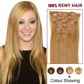 16 golden blonde 16 7pcs clip in indian remy hair extensions 16 inches golden blonde 16 7pcs clip in indian remy hair extensions pmusecretfo Choice Image