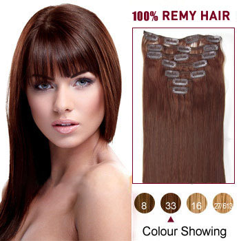 22 dark auburn 33 9pcs straight clip in indian remy hair 22 inches dark auburn 33 9pcs straight clip in indian remy hair extensions pmusecretfo Choice Image