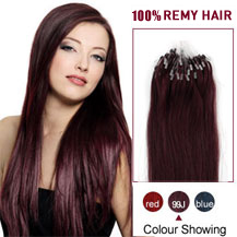16 inches 99J 100S Micro Loop Human Hair Extensions