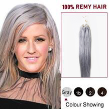 16 inches Gray Micro Loop Human Hair Extensions