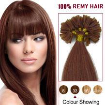 20 inches Dark Auburn (#33) 100S Nail Tip Human Hair Extensions