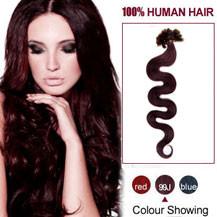 """22"""" 99J 100S Wavy Nail Tip Human Hair Extensions"""