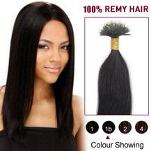 18 inches Natural Black(#1b) Nano Ring Hair Extensions