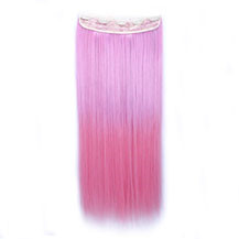 "24"" Ombre Colorful Clip in Hair Straight 13# Warm-Pink/Pink 1 Piece"