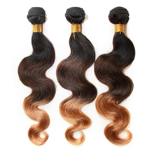 3 set bundle #1B/4/27 Ombre Body Wave Indian Remy Hair Wefts 18/20/22 Inches