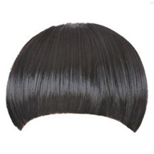 Invisible Seamless Neat Bang Black 1 Piece