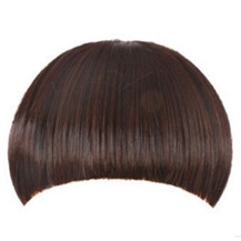 Invisible Seamless Neat Bang Deep Chestnut Brown 1 Piece