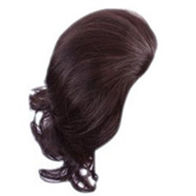 Wavy Hepburn Fluffy Ball Head Bud Head Bun Ponytail Deep Chestnut Brown 1 Piece