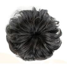 Bun Hair Piece Extension Synthetic Hairpiece Updo Black 1 Piece