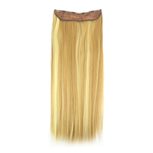"24"" Blonde Highlight(#18/613) One Piece Clip In Synthetic Hair Extensions"