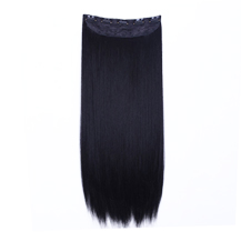 24 inches Jet Black(#1) One Piece Clip In Synthetic Hair Extensions