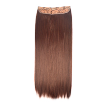 24 inches Dark Auburn(#33) One Piece Clip In Synthetic Hair Extensions