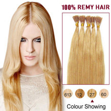 16 inches Strawberry Blonde (#27) 50S Stick Tip Human Hair Extensions