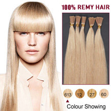 16 inches Bleach Blonde (#613) 50S Stick Tip Human Hair Extensions