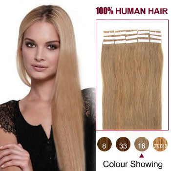 18 golden 16 20pcs in human hair extensions only