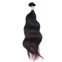 "20"" Natural Black (#1b) Body Wave Indian Virgin Hair Wefts"