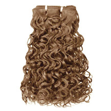 10 inches Golden Brown (#12) Curly Indian Remy Hair Wefts