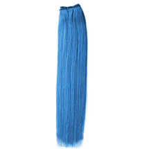 10 inches Blue Straight Indian Remy Hair Wefts