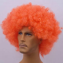 Fashionable Wig For Sports Curly Orange