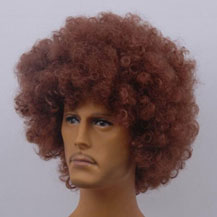Fashionable Wig For Sports Curly Brown