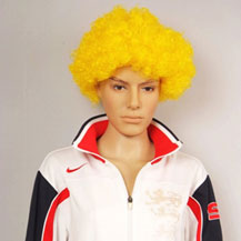 Fashionable Wig For Sports Curly Yellow