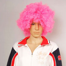 Fashionable Wig For Sports Curly Pink