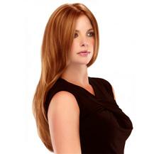 Human Hair Full Lace Wig Straight Light Auburn