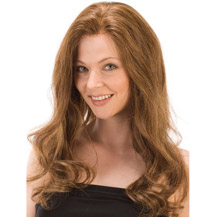 18 inches Human Hair Full Lace Wig Wavy Golden Brown