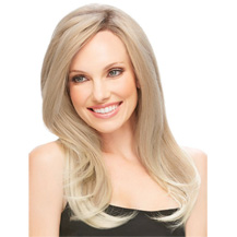 18 inches Human Hair Lace Front Wig Straight Golden Blonde