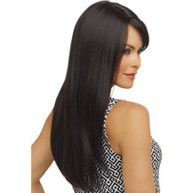 26 inches Human Hair Full Lace Wig Straight Natural Black