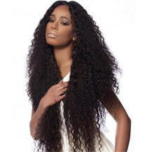 22 inches Human Hair Full Lace Wig Curly Dark Brown