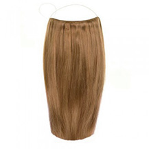 "18"" 50g Human Hair Secret Hair Extensions Golden Brown (#12)"