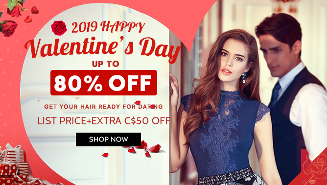 2019 Valentine Day Sale with our Hair Extensions Canada