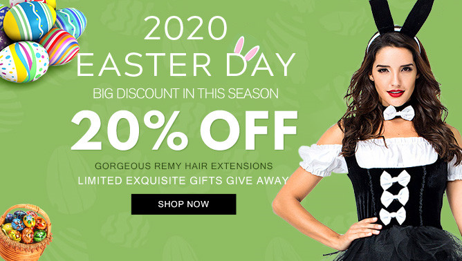 2020 Easter Day Sale with our Hair Extensions Canada