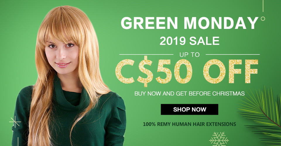 2019 hair extensions Green Monday sale Canada