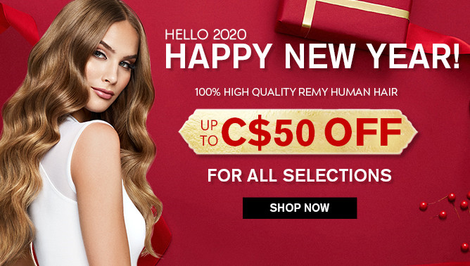 2020 New Year Sale with our Hair Extensions Canada