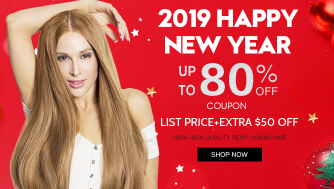 2019 New Year Sale with our Hair Extensions Canada