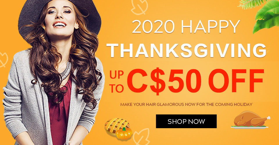 2020 hair extensions thanksgiving day sale Canada