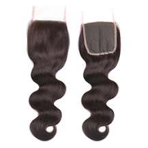 8 inches Lace Frontal Closure #2 Dark Brown  Human Hair Extensions Body Wave