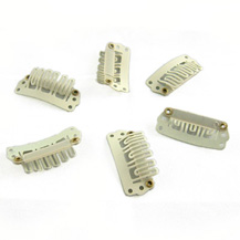 40pcs 28mm Blonde Clips for Hair Extensions / Wig / Weft
