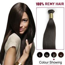 "26"" #2 Dark Brown 100s Flex Tip Nano Ring Human Hair Extensions"