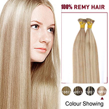 "18"" #18/613 50S Stick Tip Human Hair Extensions Straight"