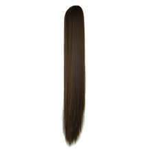 Iron Sheet Long Straight Ponytail Ash Brown(8#) 1 Piece