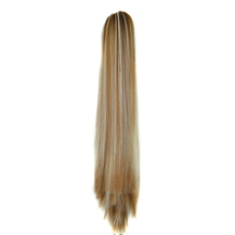 Iron Sheet Long Straight Ponytail Blonde Highlight2(27/613#) 1 Piece