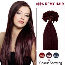 """26"""" 99J 100S Nail Tip Human Hair Extensions"""