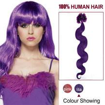 18 inches Lila 100S Wavy Nail Tip Human Hair Extensions