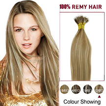"16"" (#12/613) Golden Brown Blonde 50s Nano Ring Human Hair Extensions"